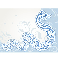 Swirly snake vector image