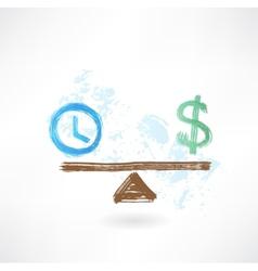 time money balance vector image