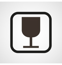 Wineglass icon simple vector