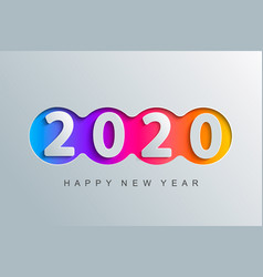 2020 new year elegant greeting card vector image