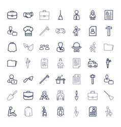 49 job icons vector