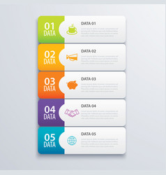 5 infographic tab index banner design vector