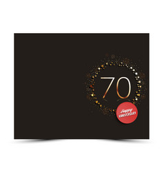 70 years anniversary decorated card template vector image