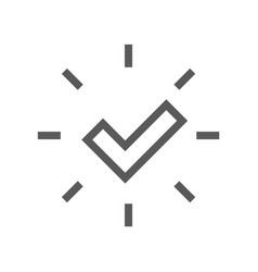 approve line icon editable stroke vector image