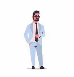 arabic businessman in sunglasses standing pose vector image