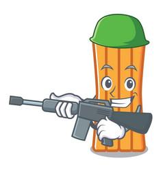 Army air mattress character cartoon vector