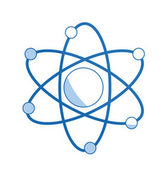 atom molecule biology science structure vector image