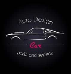 auto company logo design concept vector image