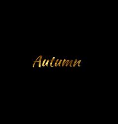 autumn golden vintage autumn label vector image