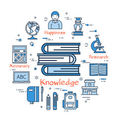 blue round concept - knowledge vector image