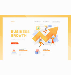 boosting business header template vector image
