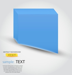 business cube vector image