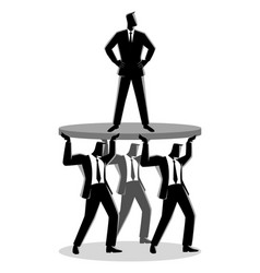 Businessman supported business colleagues vector
