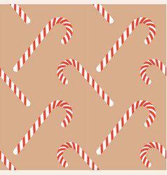 candy sticks with striped print christmas xmas vector image