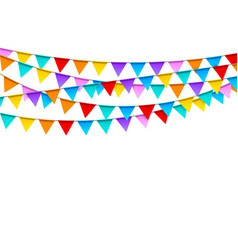 Carnival garlands with colorful flags festive vector