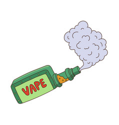 cartoon vape smoking isolated vector image vector image