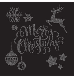 Christmas dots elements vector