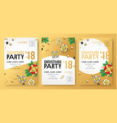christmas winter holiday party celebration poster vector image