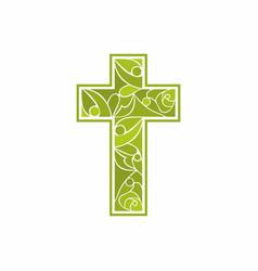 Church logo christian symbols jesus cross vector