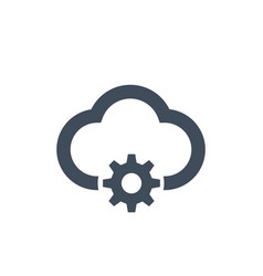 cloud management icon isolated on clean vector image