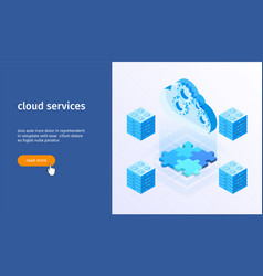 cloud services banner 05 vector image