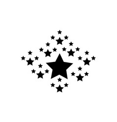 Collection stock black star style vector