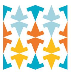 colorful arabic geometric ornament vector image