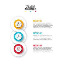 Creative concept for infographic circles with 3 vector