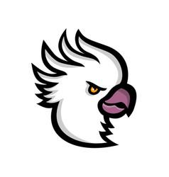 Crested cockatoo head mascot vector