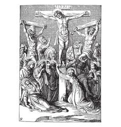 Crucifixion christ vintage vector