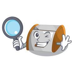 Detective character modern plastic bread bin box vector