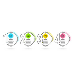 discount growth chart and atm money icons vector image