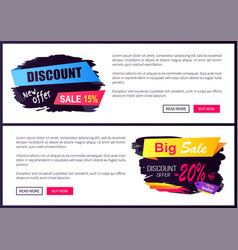 Discount new offer only today 15- 20 black friday vector