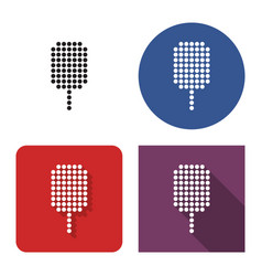 dotted icon ice cream in four variants with vector image