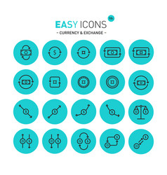 easy icons 11c exchange vector image