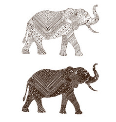 Elephant decorated mehndi vector
