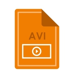File AVI icon flat style vector