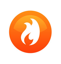 fire flame icon label - round vector image