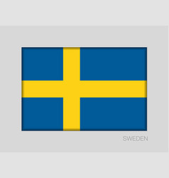 Flag of sweden national ensign aspect ratio 2 to vector