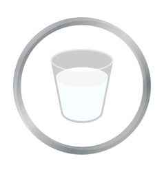 Glass milk icon cartoon Single bio eco organic vector