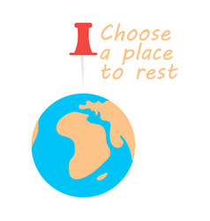 Globe icon with place for rest vector