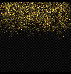 gold sparkles confetti gold glitter abstract vector image
