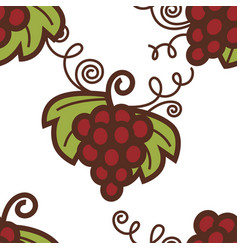grapes bunch seamless pattern winemaking berries vector image