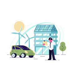 green energy technologies vector image