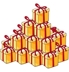 Heap of christmas presents vector