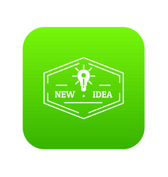 idea icon green vector image