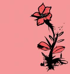 Ink flower vector