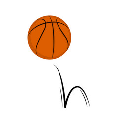 Isolated basketball ball with a bounce effect vector