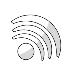 Isolated wifi wave design vector