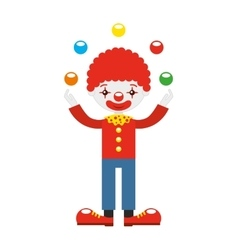 Juggler clown with balls isolated icon design vector